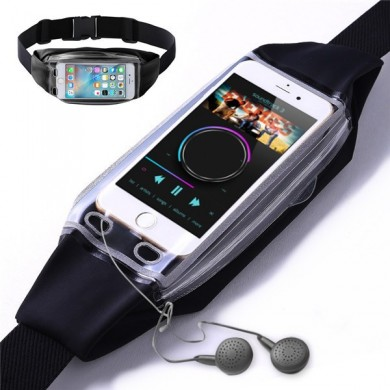 Multifunctional Touch Screen Transparent Waterproof Waist Bag Sports Belt for under 6.2 inches Phone
