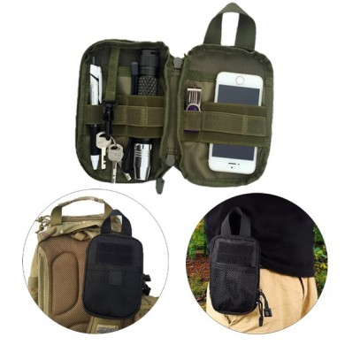 Outdooors Tactical Multifunctional Nylon Bolsa para guardar la cintura con monedero y almacenamiento Bolsa