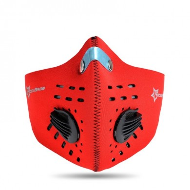 ROCKBROS KZ10023 Cycling Running Outdoor Sport Face Mask Activated Carbon Anti-PM2.5 Five-fold Filtering