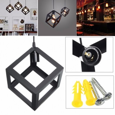 E27 Loft Industrial Retro Vintage Ceiling Lampshade Edison Pendant Light Chandelier