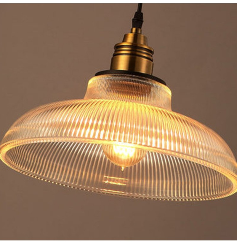 Vintage Industrial Glass Pendant Light: Loft Vintage Antique Industrial Glass Pendant Ceiling