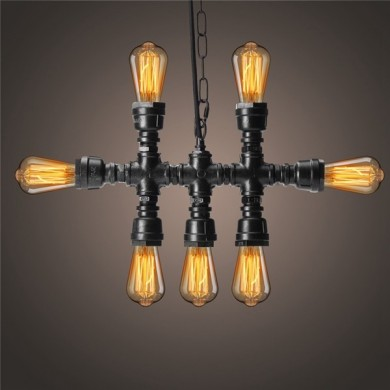 E27 Retro Vintage Edison Industrial Pendant Hanging Chandelier Light Ceiling Fixture
