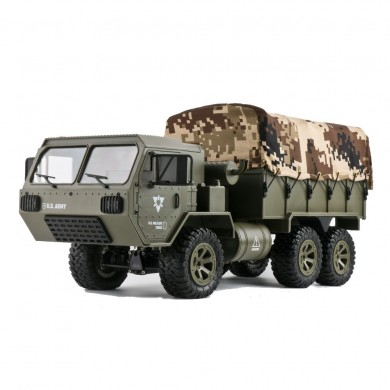 2Batterie+LeinwandFayeeFY004A 1/16 2,4G 6WD Rc Proportionalsteuerung US Army Military Truck RTR Modell