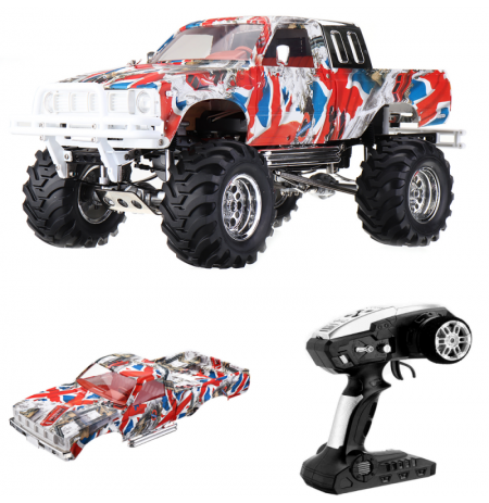 HG P407 with 2 Shells 1/10 2.4G 4WD RC Car for TOYATO Metal 4X4 Pickup Truck RTR Vehicle Model