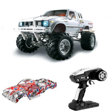 HG P407 with 2 Shells 1/10 2.4G 4WD RC Car for TOYATO Metal 4X4 Pickup Truck RTR Vehicle