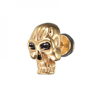 1pc Skull Titanium Steel Punk Women Men Male Earring Trendy Accessories
