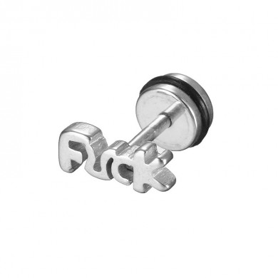 1pc Letters Words Titanium Steel Punk Unisex Earring Jewelry