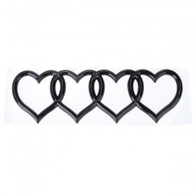 Modified Tail Car Love Label Heart-shaped Label Car Decoration Car Stickers
