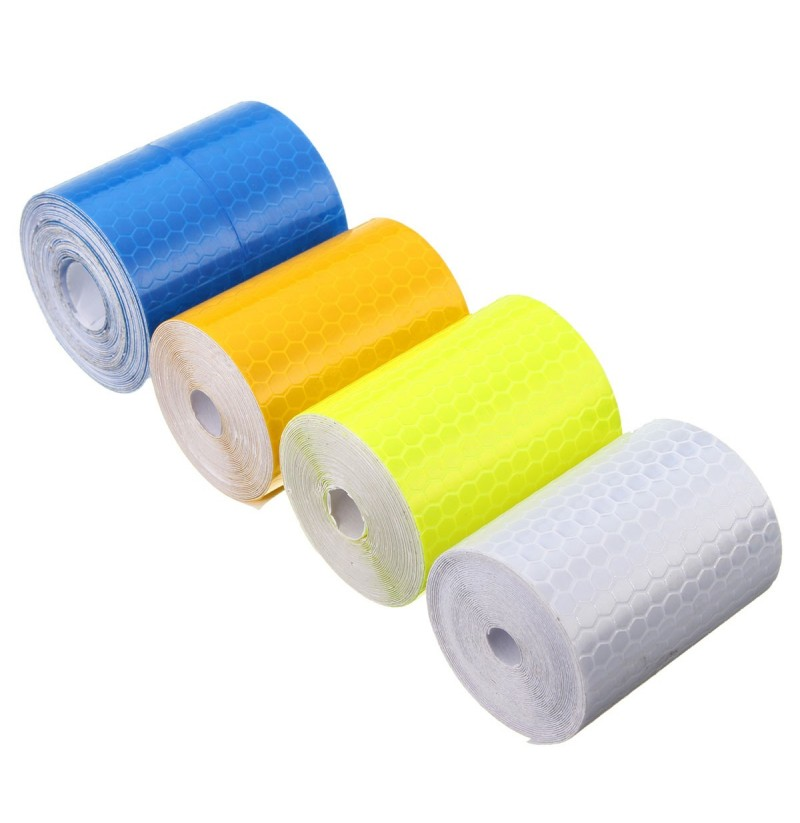 5cm X 300cm Reflective Safety Warning Conspicuity Tape Film Car Sticker (Color: Yellow) фото