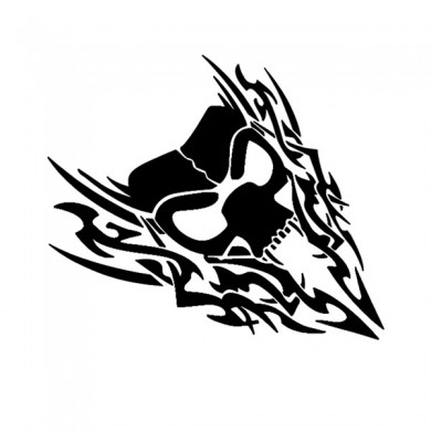 40x41cm Car Styling Skull Reflective Sticker Auto Truck Vehicle motorcycle Vinyl Decal