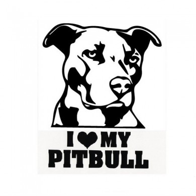 Waterproof Pitbull Car Stickers Auto Truck Vehicle Motorcycle Decal