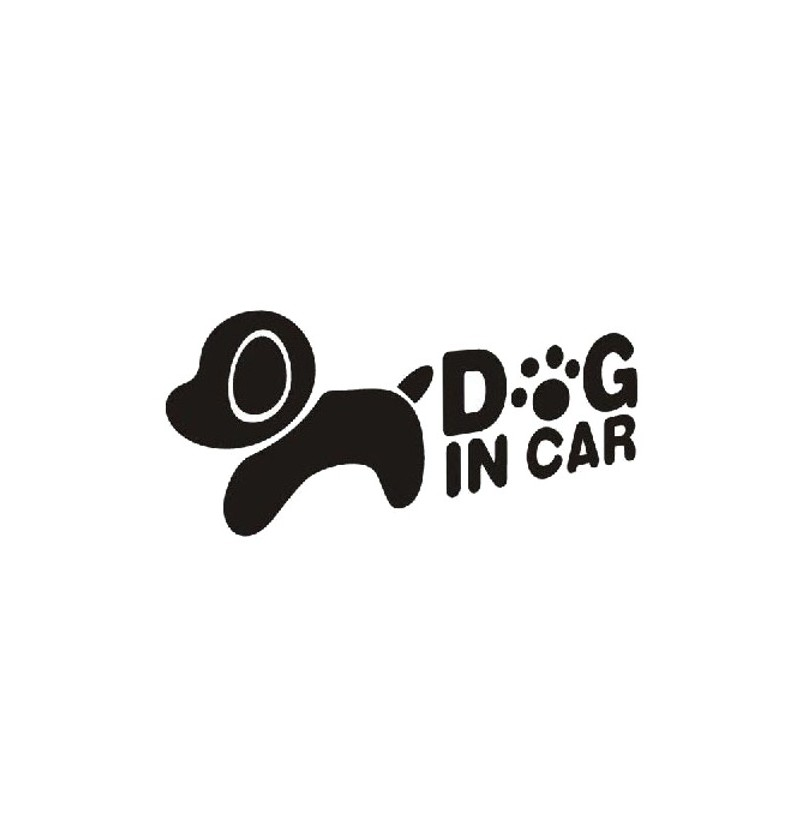 Lovely Dog Car Stickers Auto Truck Vehicle Motorcycle Decal (Color: Black) фото
