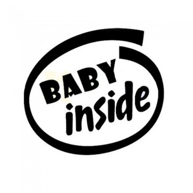 11x12cm Baby Inside Reflective Outdoor Enthikes Car Stickers Auto Truck Vehicle Motocyclette Deca