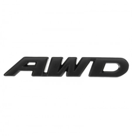 AWD 3D Badge Rear Tail Stickers Black Emblem for 4 Wheel Drive SUV Offroad Car