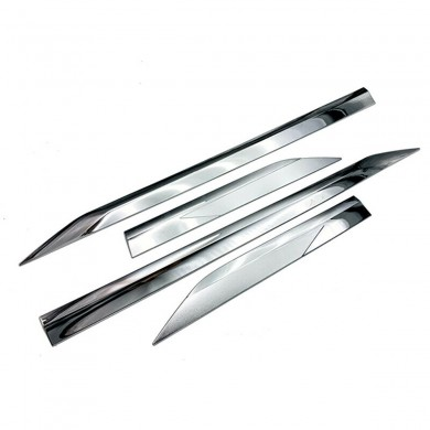 4 Pcs ABS Chrome Side Panel Door Clip Car Moulding Trim Strip For Toyota RAV4 2019 2020