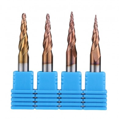Drillpro R0.25/ R0.5/ R0.75/ R1.0 *20*D6*50 2 Flutes Taper Ball Nose End Mill HRC50 Milling Cutter
