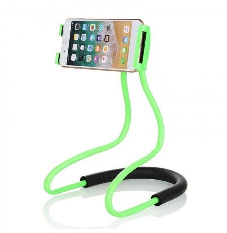 Universal Hanging Cuello Brazo largo 360 Degree Rotación Lazy Phone Holder for Samsung Xiaomi
