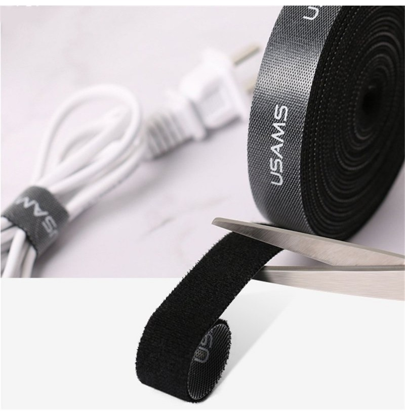 USAMS 0.5M 1M 2M 3M 5M Adhesive Cuttable Cable Management Winder Wire Organizer Earphone Clip (Length: 3M) фото
