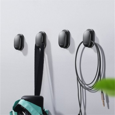 Baseus 4 PCS Strong Sticky Earphone Wall Hook Data Cable Clip Organizer Self Adhesive Car Storage Hanger