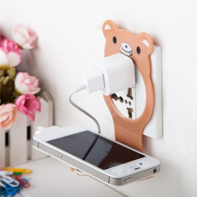 Universal Foldable Cable Organized Management Charging Wall Mount Holder for iPhone Xiaomi Mobile Phone
