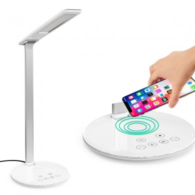 10W Qi Wireless Charger LED Desk Lamp Phone Holder For iPhone XS Max XS 8 Plus Samsung Galaxy S10 Plus Huawei P30 Pro All Qi-ena