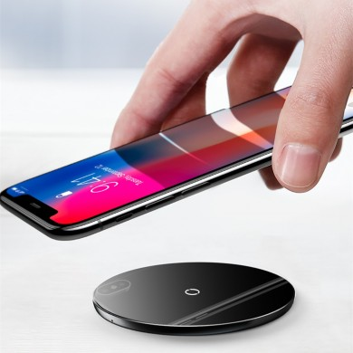 Baseus 10W Qi Wireless Charger Fast Charging Tempered Glass Panel Phone Holder For iPhone Samsung Huawei Xiaomi Oppo Vivo Smart