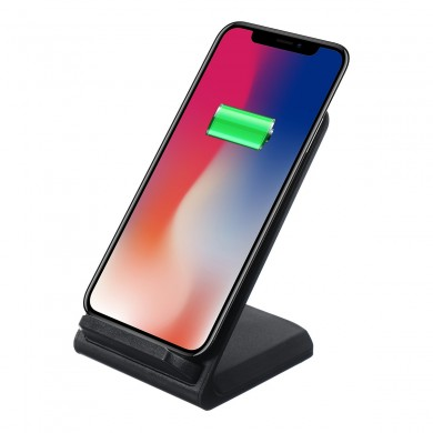 10W Qi Wireless Fast Charger Anti-slip Charging Dock Desktop Holder Stand for Samsung Xiaomi Mobile Phone