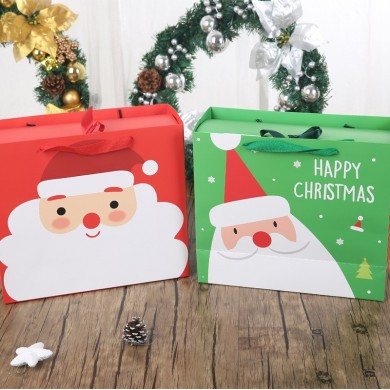 Merry Christmas Present Box Santa Claus Paper Hanging Candy Box DIY Colorful Birthday Party Favor Gift Boxes
