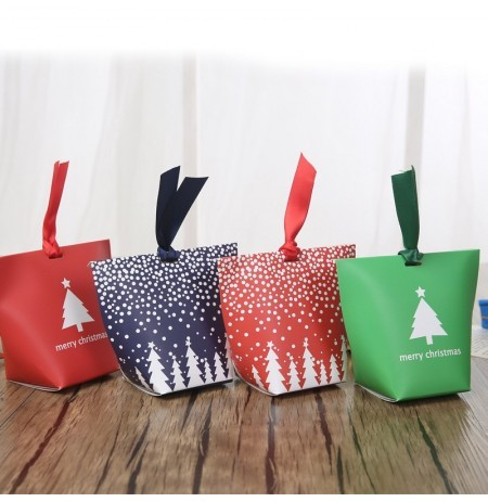 Christmas 12 Pcs Paper Gift Box Candy Box Jewelry Packaging Box Stocking Christmas Gift Bags
