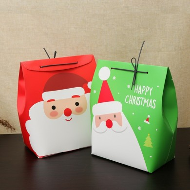 Christmas Day Stocking Gift Box Cute Santa Decoration Candy Box Stocking Christmas Gift Bags