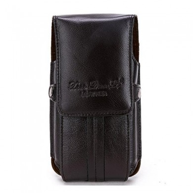 Men Leather Cell Phone Pouch Casual Ultra Thin Vertical Phone Case Phone Holder