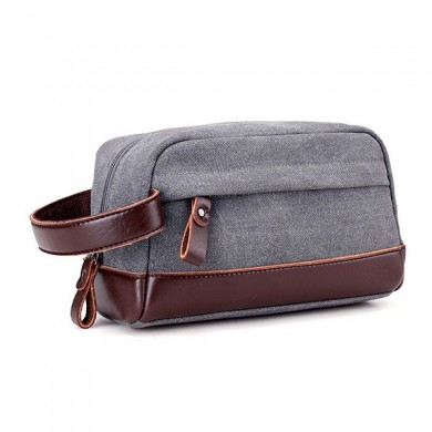 Canvas Large Capacity Casual Clutches Bag Portable Card Holder Phone Bag Key Coin Bag