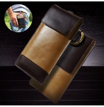 Men PU Leather 4.7 / 5.5 Inch Phone Holster Clip Phone Bolsa Cintura Bolsa