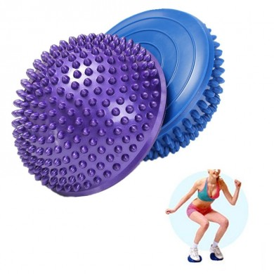 16cm Half Round Yoga Balance Spiky Massager Ball Stepping Stone Foot Sole Trigger Point Hemisphere