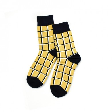 Men Women Outdoor Fashion Plaid Socks Middle Tube Socks
