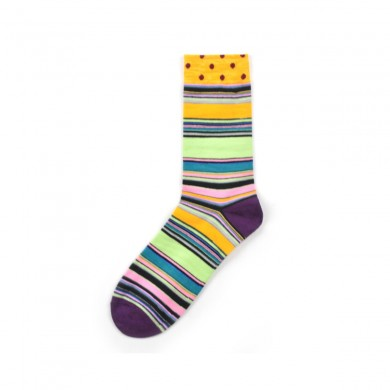 Men's Street Wild Classic Geometry Striped Cotton Mid-Socks