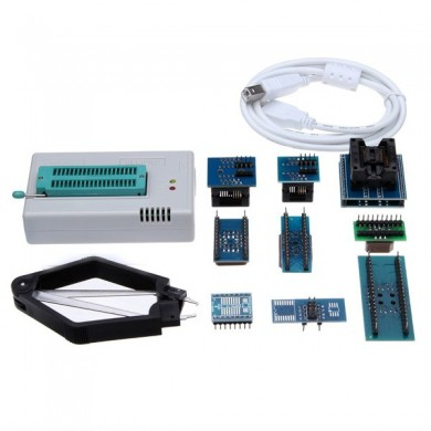 Mini Pro tl866cs usb bios kit programador universal com adaptador de 9 pcs