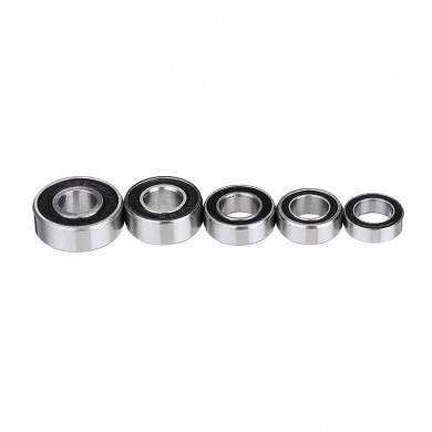 Machifit 10pcs I.D 6mm Double Rubber Shielded Miniature Deep Groove Ball Bearing MR106 MR116 MR126