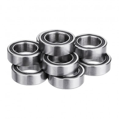 Machifit 10pcs 6700-2RS 10x15x4mm 10x16x5mm Miniature Double Rubber Seal Deep Groove Ball Bearing