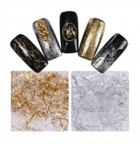 Silver Gold Thread Shimmer Brillare Chiodo Decorazione Art DIY
