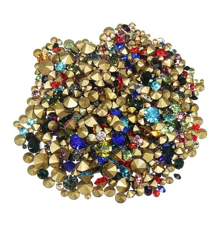 1200pcs Unhas Art Decoration Rhinestones Stud Colorful Shiny Clear Crystal Manicure Tool