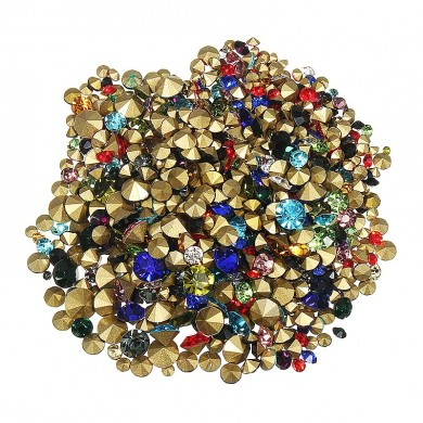 1200pcs Nail Art Decoration Rhinestones Stud Colorful Shiny Clear Crystal Manicure Tool