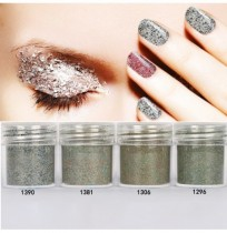 10ml 4 Farben Nagel Glitter Pulver Nail Art Dekorationen Set