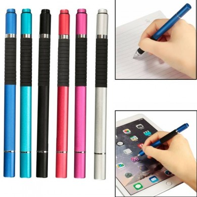 2 in 1 Capacitive Touch Screen Stylus Ballpoint Pen For Tablet Cell Phone