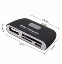 OTG Micro USB SD TF Card Reader USB2.0 Adapter Connector For Tablet Cell Phone