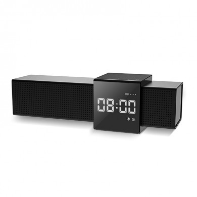 Havit M28 Altoparlanti bluetooth portatili wireless Dual Units LED Display Sveglia FM Radio TF Card Altoparlante Smart Touch con
