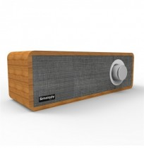 Smalody bluetooth Speaker Portable Wooden Wireless Headset Stereo Mini Subwoofer Loudspeaker With Mic