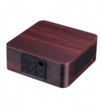 Q1A Portable Wooden Wireless bluetooth Speaker Double Drivers Stereo Light Speaker