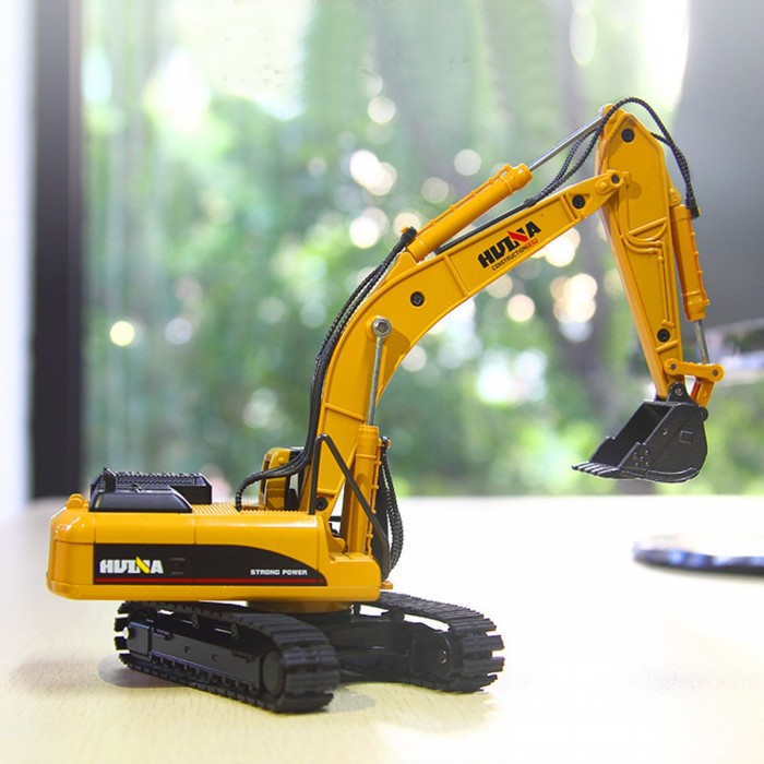Plastic Excavator Model High Simulation Engineering Digging Machine Kids Toys