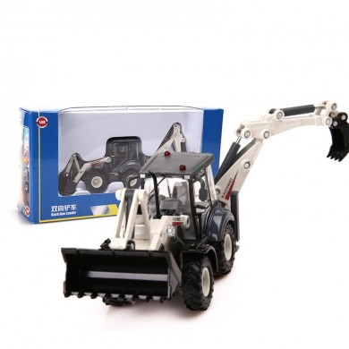 1:50 Alloy ABS Diecast Excavator 4 Wheel Loader Two Way Forklift Bulldozer Backhoe Loader Model Truck Toys Gifts Collection